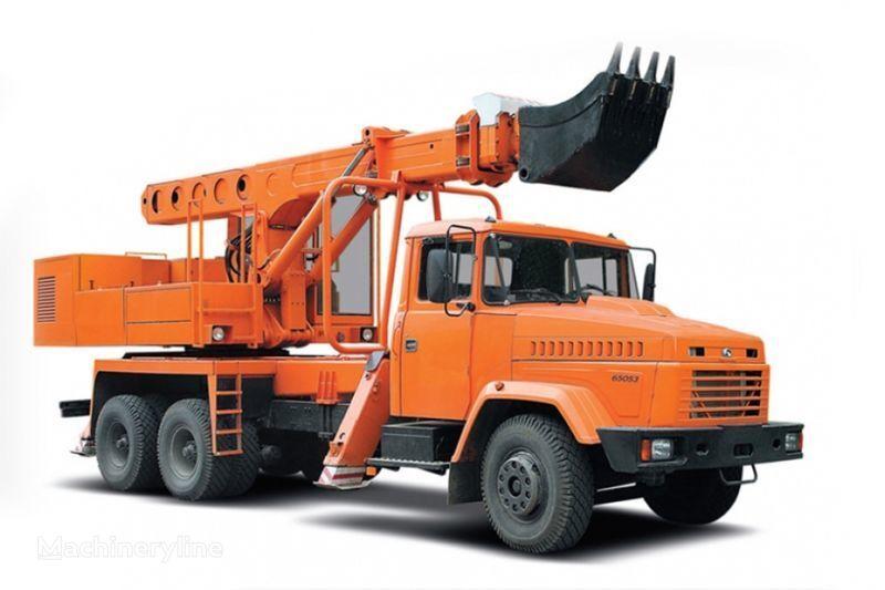 KRAZ 65053 UDS-114R Avtoekskavator-planirovshchik  escavadeira telescópica
