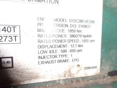 VOLVO D12C 380 HP engine computer EDC 20365050 ECU, 3169631, 3161952, 20412506, 3161962, 20577131, 20582958, 85111405, 85107712, 85103340, 3099133, 8500011, 85000086, 85000388, 85000846, 8113577, 85111405, 8113577, 3099133 bloco de controlo para VOLVO FH12 camião