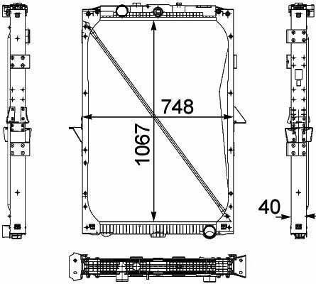 1674136. 1692332. 1739550 .1856628. 8MK376 733-7111861737. 1861737R radiador para DAF XF95.105XF camião novo