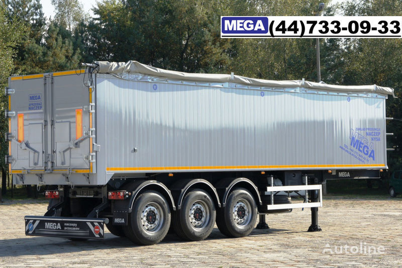 MEGA 42 m³ SAF ACHSE/ ALUMULDE / KLAPPETUREN / BEREIT semi-reboque basculante novo