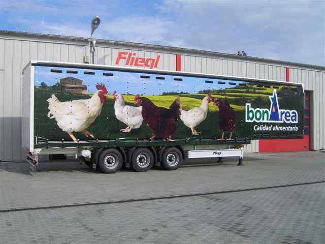 FLIEGL SDS 350 Geflugel semi-reboque de transporte de aves de capoeira novo
