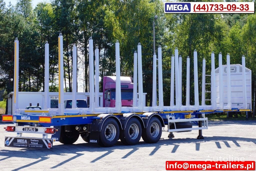 MEGA 10 U STANCHION - TIMBER SEMI-TRAILER/HOLZAUFLIEGER- READY ! BERE semi-reboque de transporte de madeira novo
