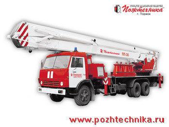 KAMAZ PPP-30 Penopodemnik pozharnyy auto-escada