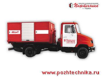 ZIL AKonT Avtomobil konteynernogo tipa    carro de bombeiros
