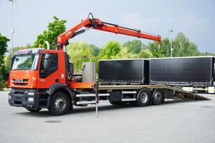 caminhão de reboque IVECO Stralis 360, EEV, 6x2, 7.8m tow truck, lift axle , CRANE HIAB ma
