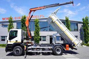 camião basculante IVECO Stralis 310 , EEV , 120.000km , 3 side tipper , bordmatic , Cran