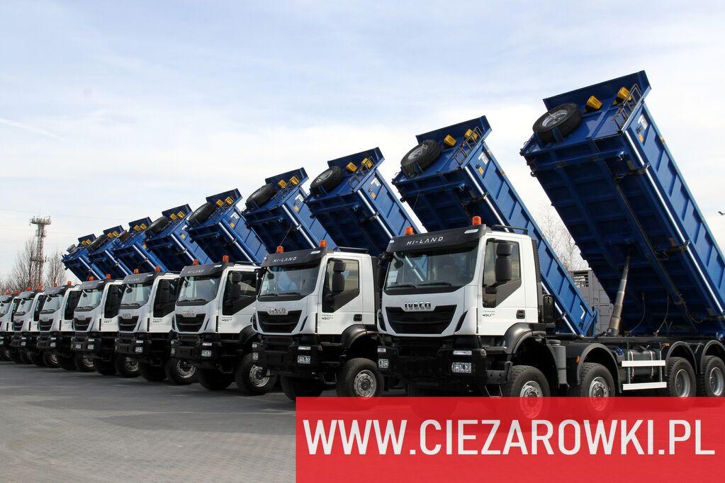 camião basculante IVECO Trakker 450 , E6 , 8x8 , 3-side tipper , retarder 5 UNITS FOR S