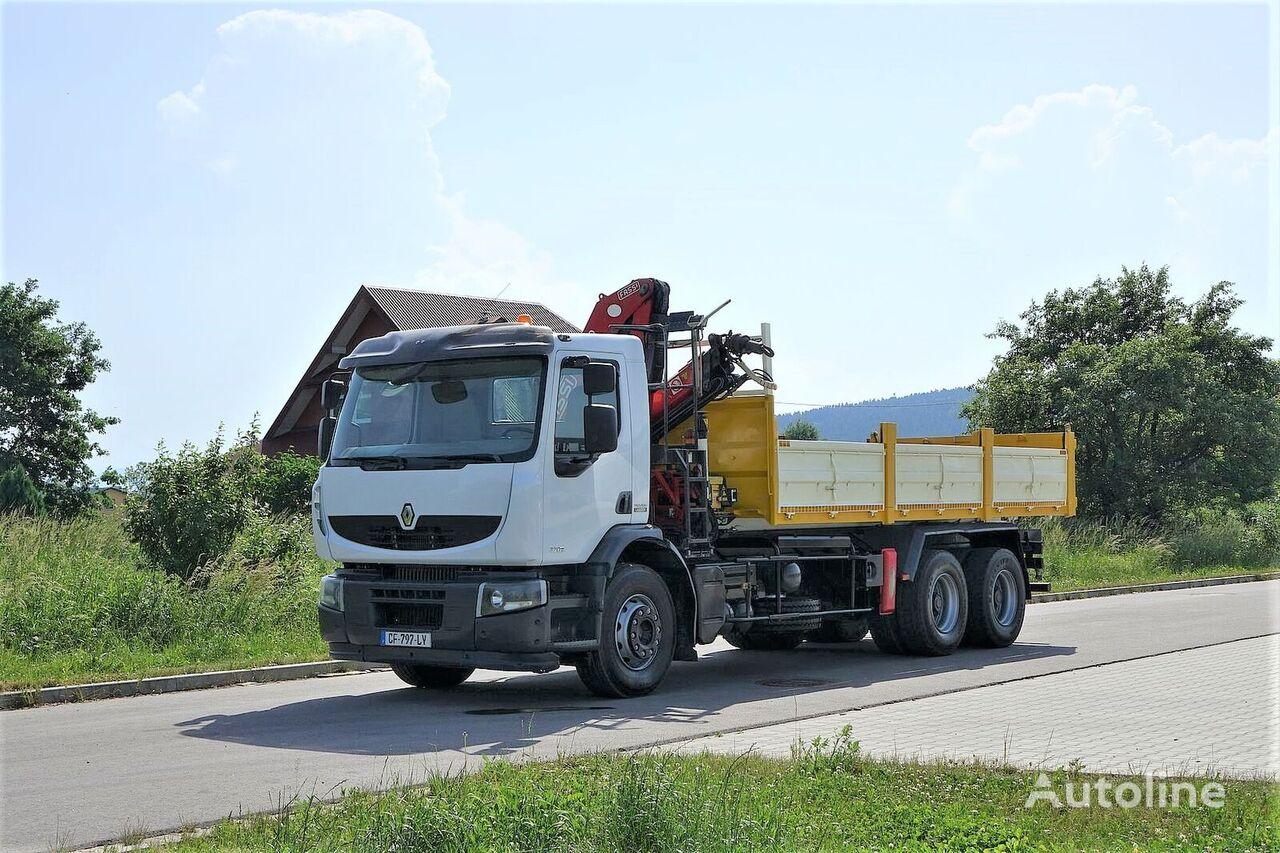camião basculante RENAULT Premium 320 DXI Wywrotka 6,20m+HDS 6x4