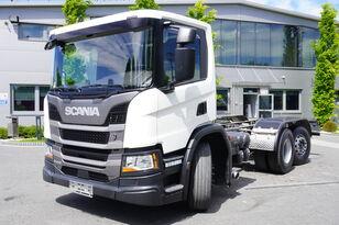 camião chassi SCANIA P410 , E6 , 6X2 , chassis 6m , PTO , LOW CAB , manual , retarder