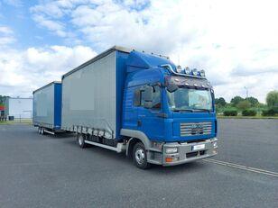 camião com lona deslizante MAN TGL 8.240 + reboque com cortina lateral
