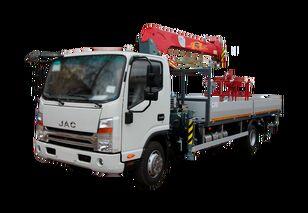 camião de caixa aberta JAC Бортовой автомобиль с КМУ FG-414 novo