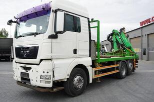 camião de caixa aberta MAN TGX 26.440 XLX  ,E5 , steer axle , Crane Palfinger Epilson + rem