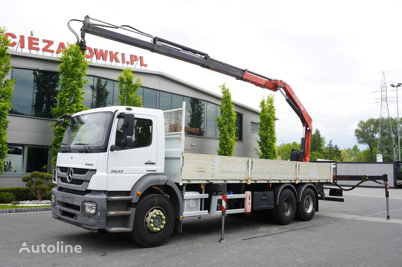 camião de caixa aberta MERCEDES-BENZ Axor 2633 , EEV , 6X4 , BOX 7,5m , FASSI 10m / 6.000kg , REMOTE