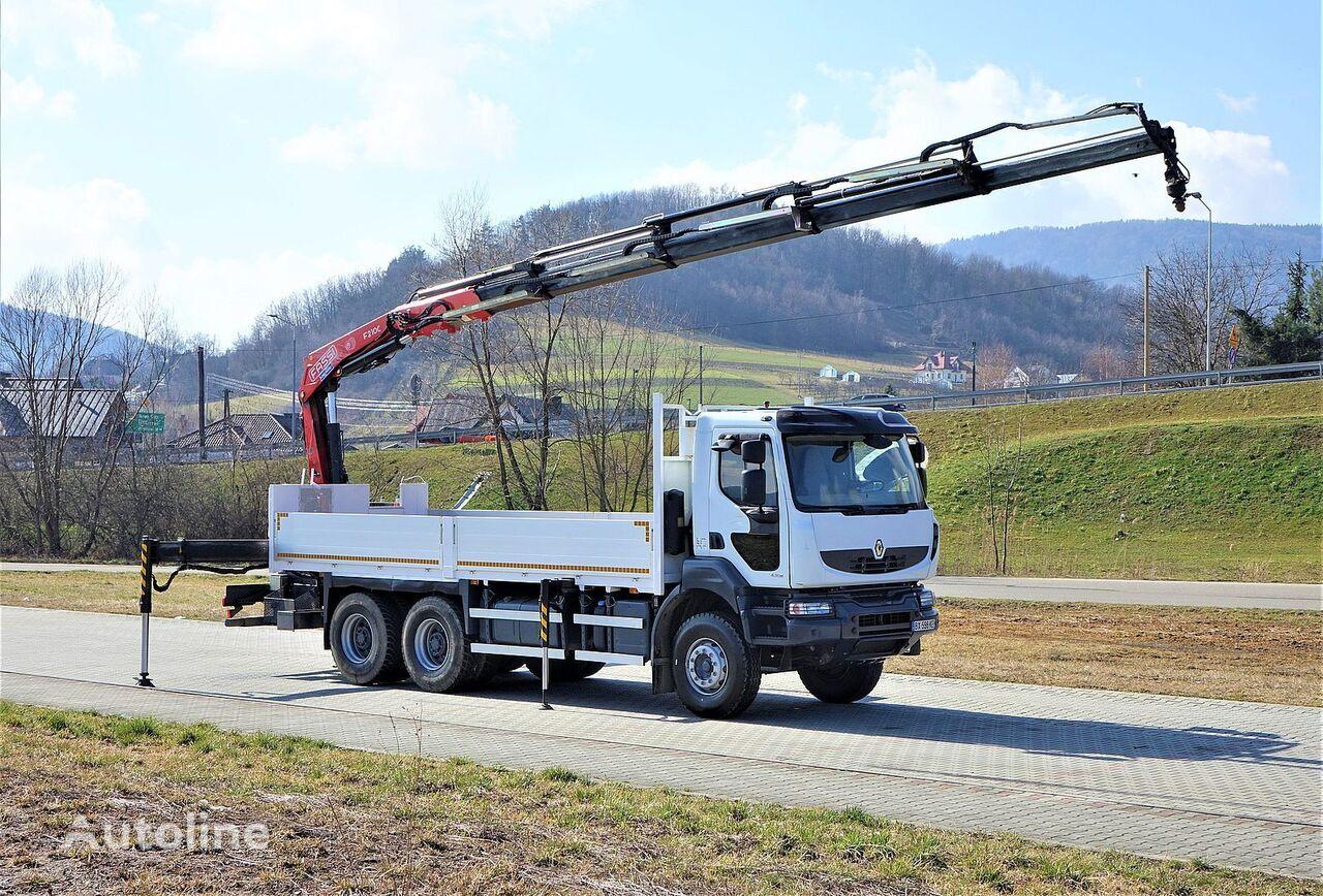 camião de caixa aberta RENAULT Kerax 430 DXI*Pritsche 6,50m + Kran* Topzustand!