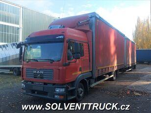 camião de toldo MAN TGL 12.240, Euro 4 + reboque de toldo