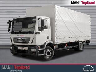 camião de toldo MAN TGM 15.290 BL-PRITSCHE PLANE-AHK-LBW-3SITZER-LGS