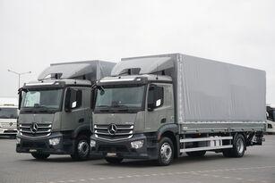 camião de toldo MERCEDES-BENZ ANTOS / 1833 / ACC / E 6 / SKRZYNIA + WINDA / ŁAD. 8730 KG / 18