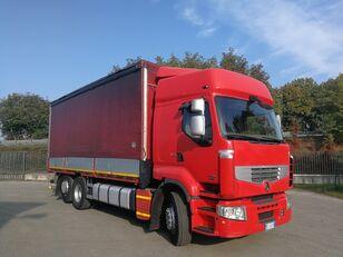 camião de toldo RENAULT PREMIUM 450.260 6X2 EURO 5, TELONATO 7 METRI + GANCIO TRAINO