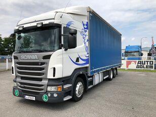 camião de toldo SCANIA R420 LB6x2 flatbed