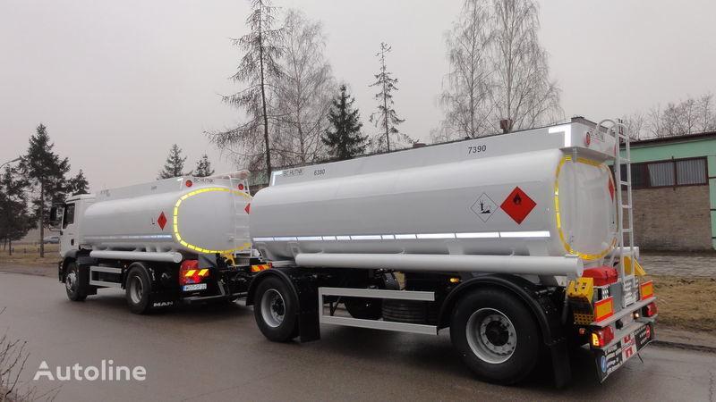 SCANIA DAF,MAN,VOLVO,MB camião de transporte de combustivel novo + reboque de toldo
