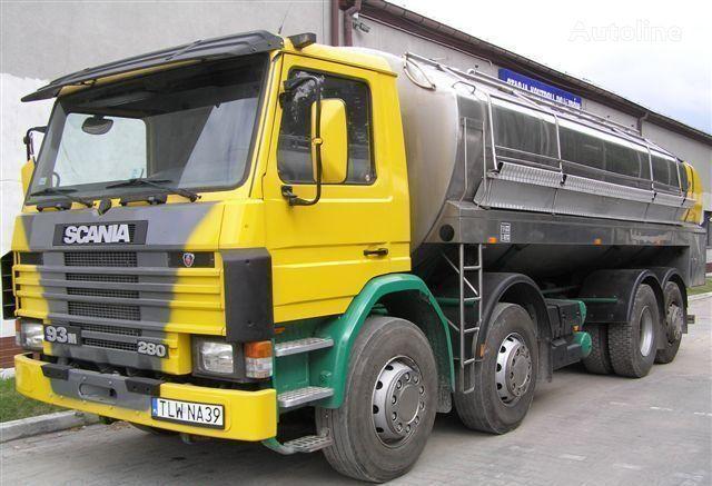 SCANIA 93M Cysterna Spożywcza camião de transporte de leite