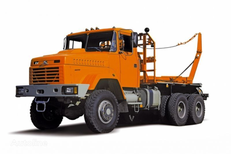 KRAZ 64372 tip 2  camião de transporte de madeira