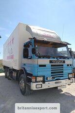 camião furgão SCANIA P82 H left hand drive 6X2 24 ton detachable box body
