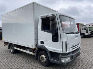 camião furgão IVECO EuroCargo 75 E17 bakwagen plus laadklep