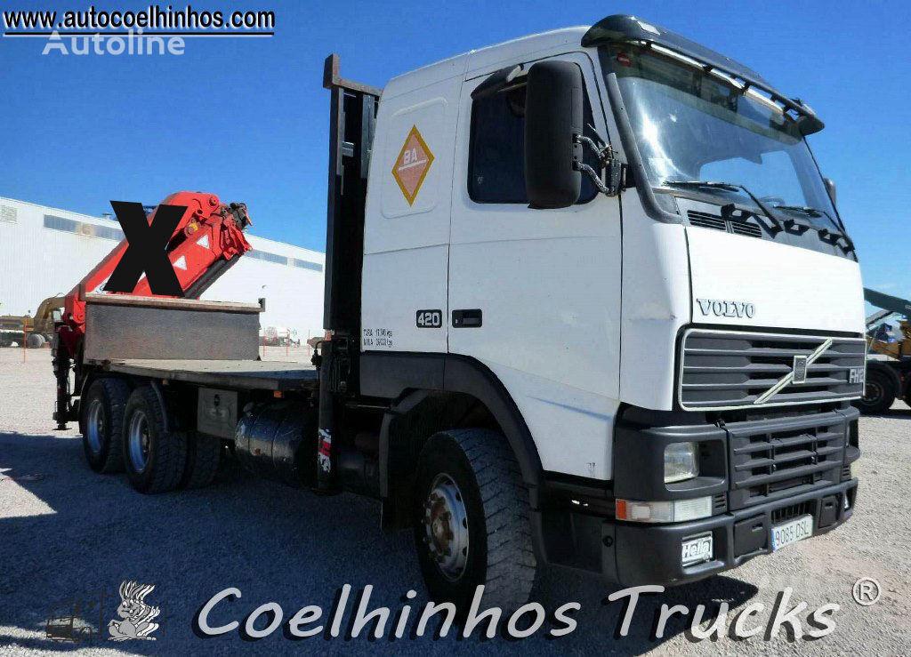 VOLVO FH12 420 camião plataforma