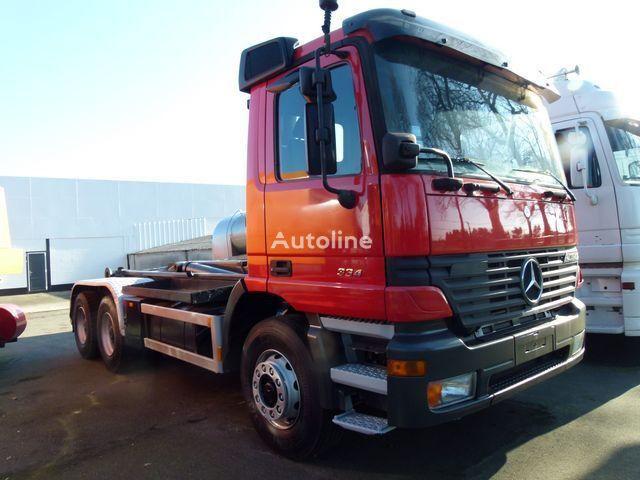 camião polibenne MERCEDES-BENZ 2640 K Haaksysteem LEEBUR / 3 Pedals