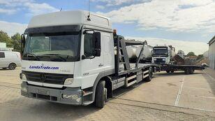 camião porta-automóveis MERCEDES-BENZ Atego 1323 / 7 Cars / Winch / Airco + reboque porta carros