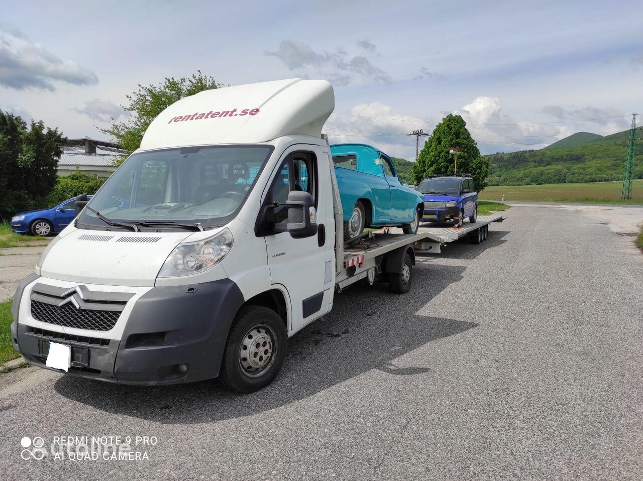 camião porta-automóveis CITROEN Jumper 3.0liter 2008 winch ramp + reboque porta carros