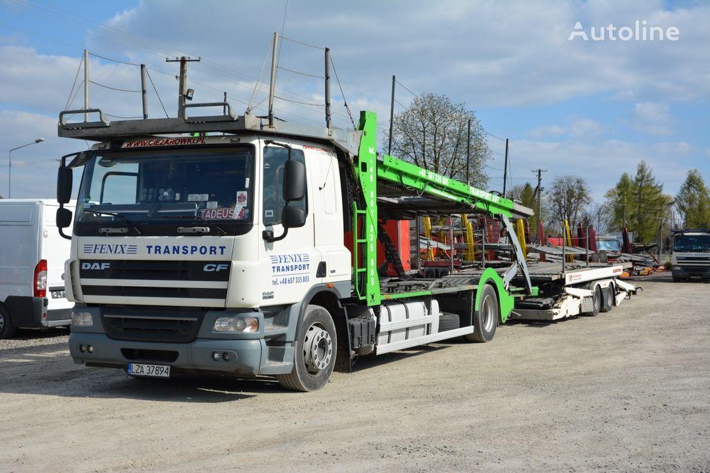 camião porta-automóveis DAF CF 360 + reboque porta carros