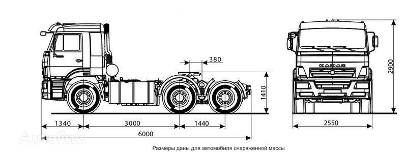 KAMAZ 6460 (6h4) camião tractor