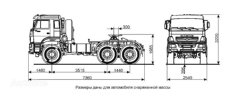 KAMAZ 65221  camião tractor