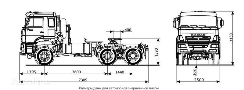 KAMAZ 65225 camião tractor