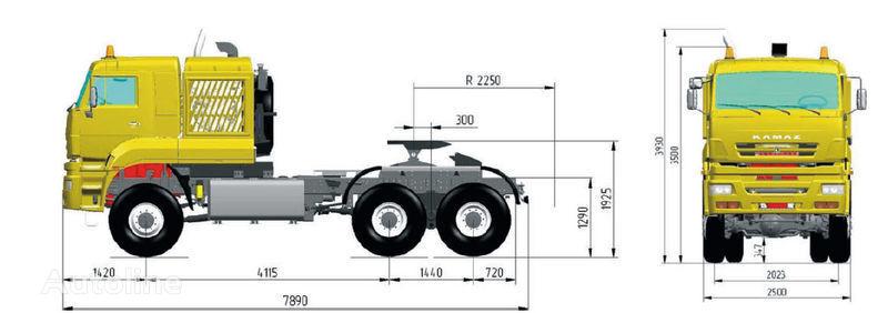 KAMAZ 65226 (6h6) camião tractor