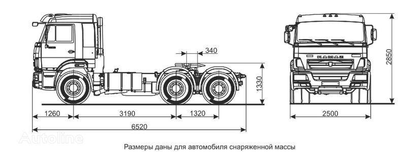 KAMAZ Sedelnyy tyagach KAMAZ-65116 (6h4) camião tractor
