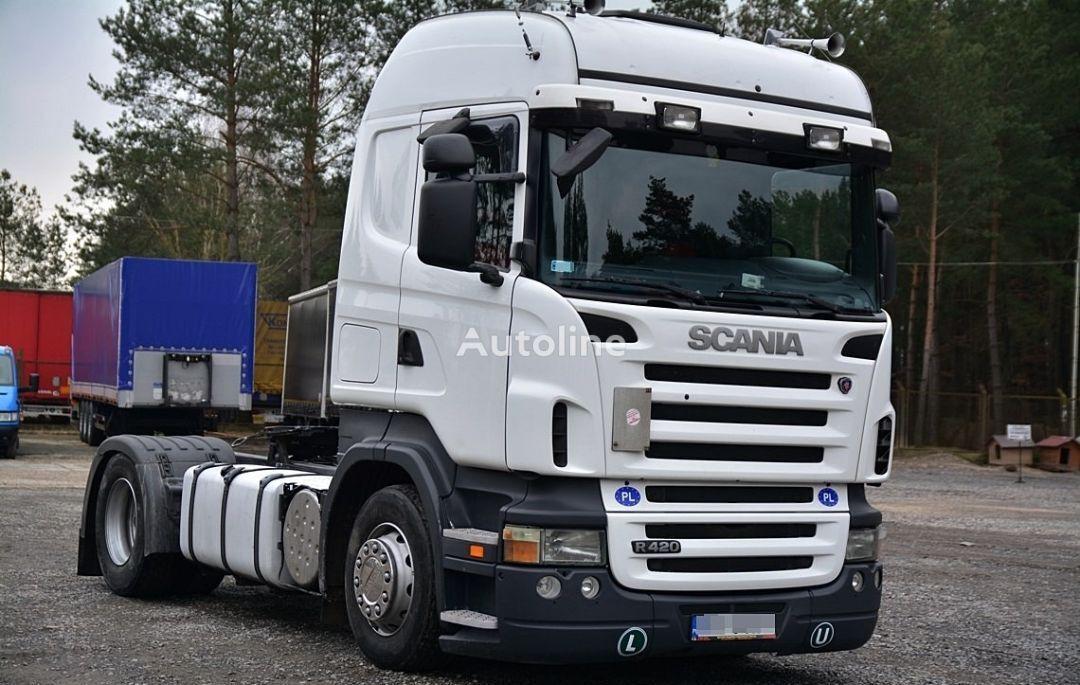 SCANIA R420 ZADBANA  camião tractor
