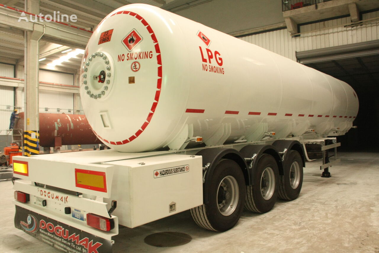 cisterna para gás DOĞUMAK 45 CBM SEMI TRAILER FOR TRANSPORTATION LIQUIFIED PETROLEUM GAS novo