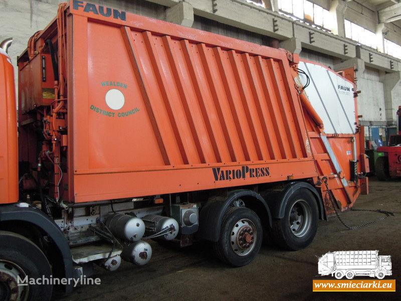 FAUN carroçaria camião de lixo