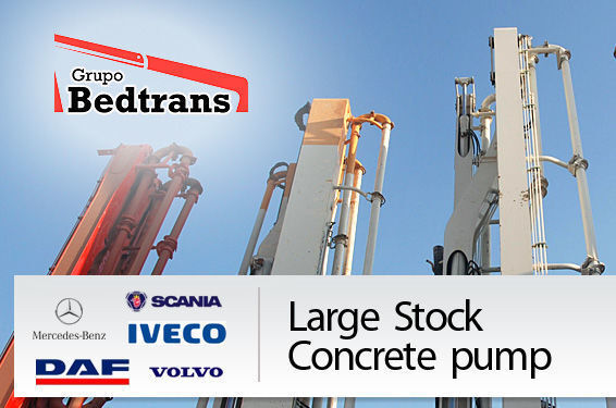 PUTZMEISTER THE BEST STOCK THE CONCRETE PUMPS IN SPAIN BEDTRANS bomba de betão
