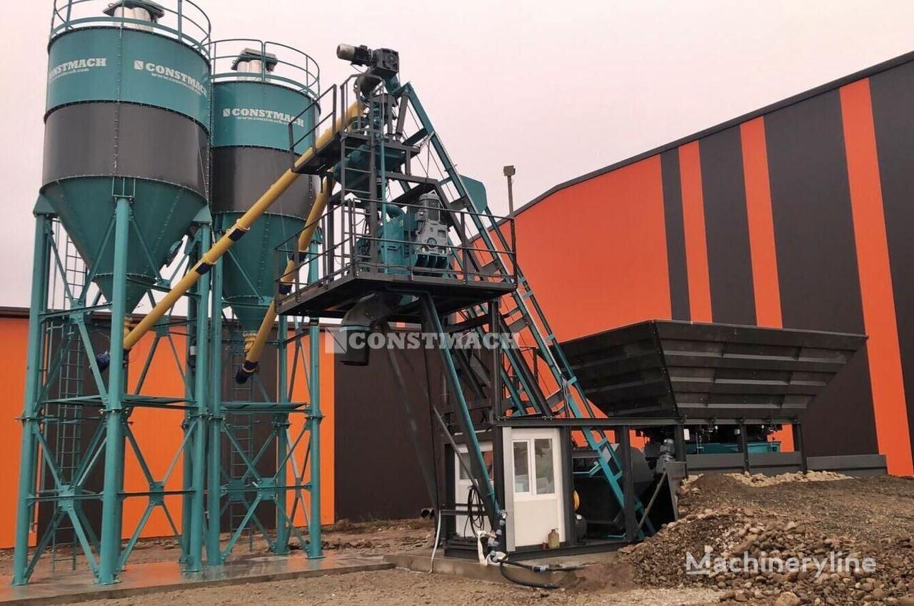 central de betão CONSTMACH التسليم من المخزون! مصنع خرسانة مدمجة بسعة 30 م 3 / ساعة novo