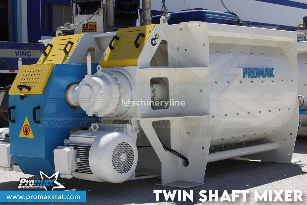 central de betão PROMAX 2 m3 /3 m3 TWIN SHAFT MIXER novo