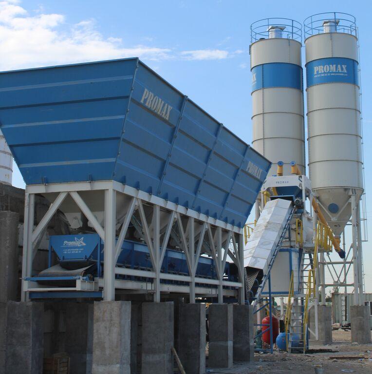 central de betão PROMAX Compact Concrete Batching Plant C100-TWN-LINE (100m3/h) novo