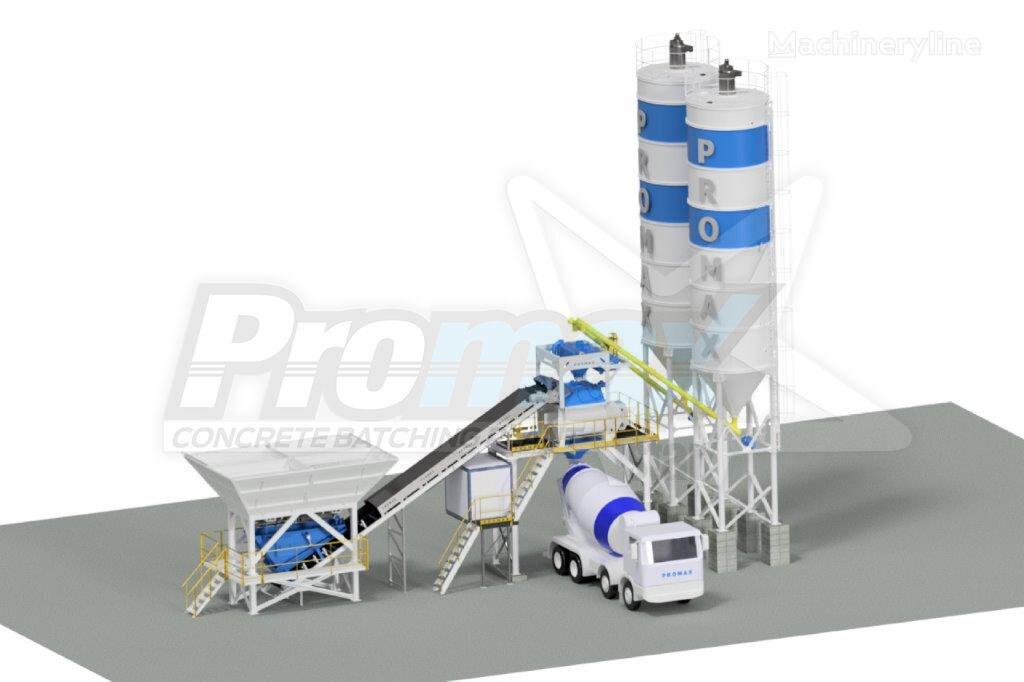 central de betão PROMAX Compact Concrete Batching Plant C100-TWN PLUS (100m³/h) novo