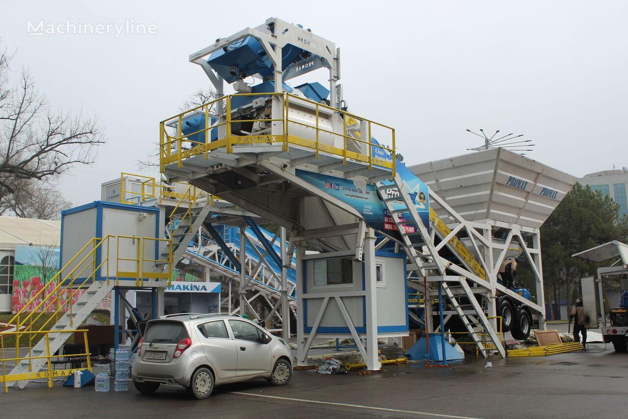 central de betão PROMAX Mobile Concrete Batching Plant M100-TWN (100m3/h) novo