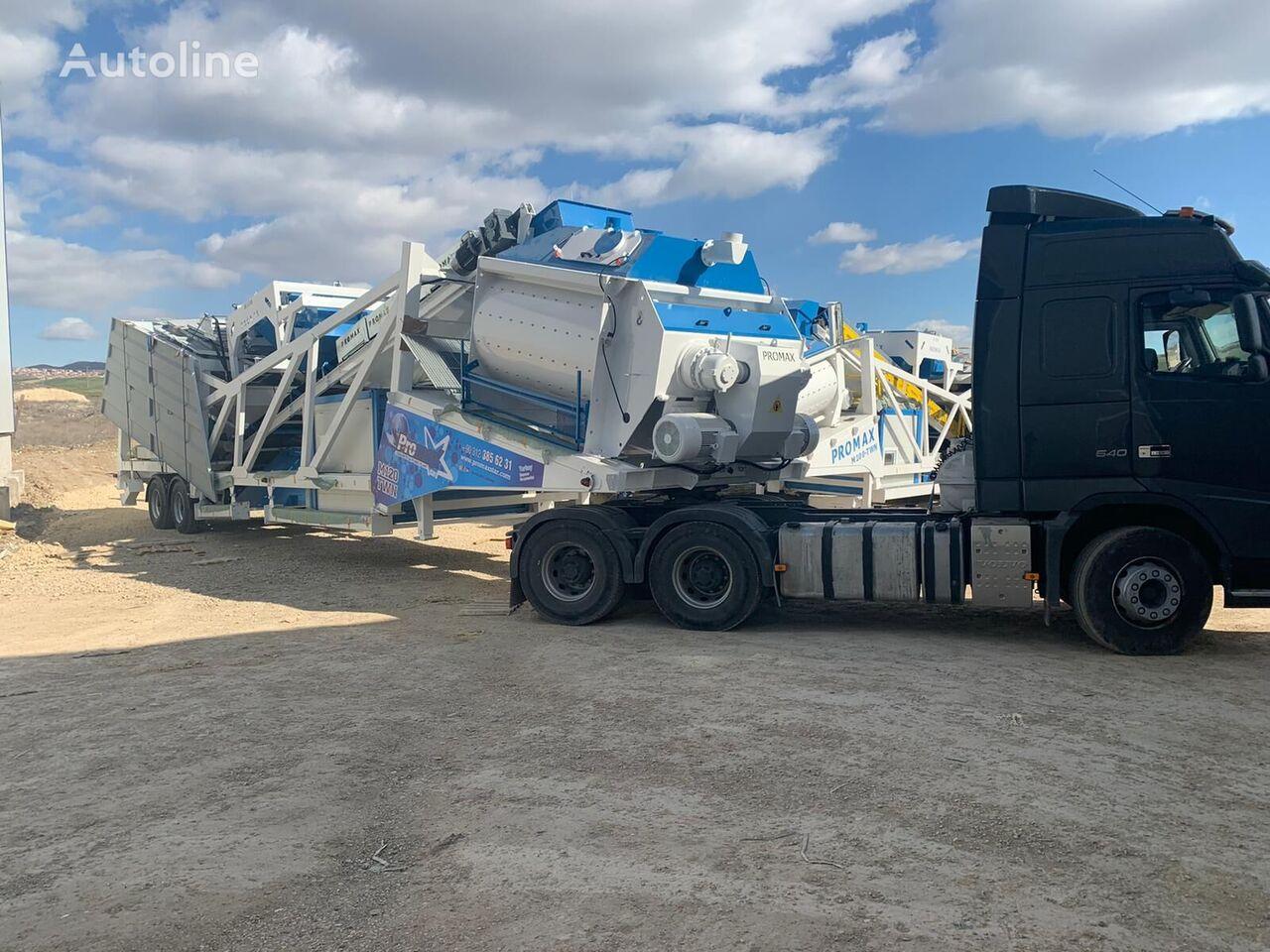 central de betão PROMAX Mobile Concrete Batching Plant M120-TWN (120m3/h) novo