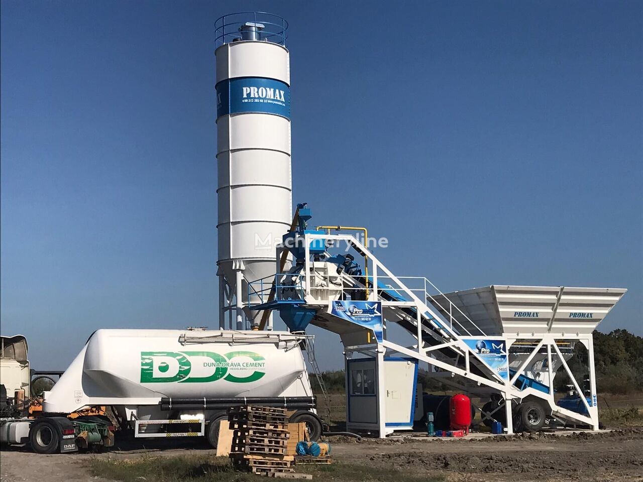 central de betão PROMAX Mobile Concrete Batching Plant PROMAX M60-SNG (60m3/h) novo