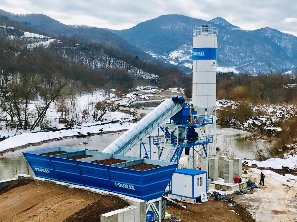 central de betão PROMAX STATIONARY Concrete Batching Plant PROMAX S100 TWN (100m³/h) novo